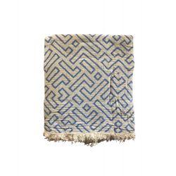 Пляжное полотенце Gold Soft Life pestemal Real 100*180 синий (ts-02752)