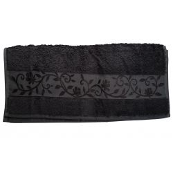 "Полотенце ТМ ""Hanibaba"" 70х140 бамбук  темно-серый m012914"
