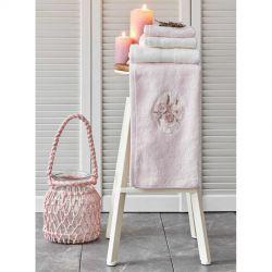 Набор полотенец Karaca Home - Goldie pudra-offwhite пудрово-кремовое 4 предмета (svt-2000022280082)