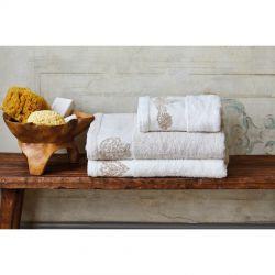 Набор полотенец Karaca Home - Eldora offwhite-bej 2020-1 кремовый-бежевый 50*90+85*150 (svt-2000022238687)