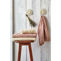 Набор полотенец Karaca Home - Valeria Rose-Gold 2020-2 розовый-золотой 50*90+85*150 (svt-2000022245326)