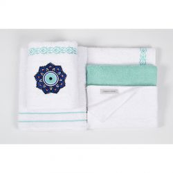 Набор полотенец Karaca Home - Destiny turkuaz бирюзовый 5 предметов (svt-2000022253802)
