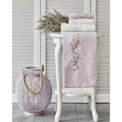 Набор полотенец Karaca Home - Lucy lila-offwhite лилово-кремовое 4 предмета (svt-2000022280105)