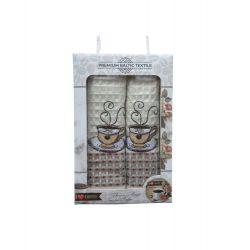 Набор кухонных полотенец Mercan вафельных Premium Baltic Textile Coffee V01 50*70 2 шт (ts-01821)