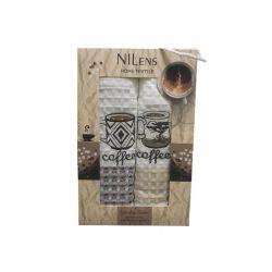 Набор кухонных полотенец Nilteks Quality Series Coffee V01 50*70 2 шт (ts-02545)