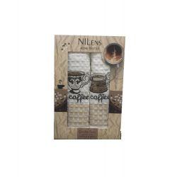 Набор кухонных полотенец Nilteks Quality Series Coffee V03 50*70 2 шт (ts-02547)