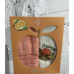 Набор кухонных полотенец Nilteks вафельное Orange Series 40*60 2 шт (ts-01452)