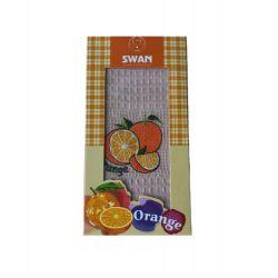 Кухонное полотенце Swan вафельное Orange 40*60 персиковый (ts-01815)