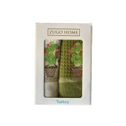 Набор кухонных полотенец Zugo Home Curly Cactus V1 40*60 2 шт (ts-02051)