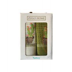 Набор кухонных полотенец Zugo Home Cactus V1 40*60 2 шт (ts-02052)