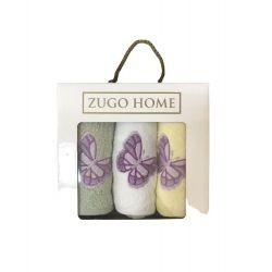 Набор кухонных полотенец Zugo Home Бабочки V1 30*50 3 шт (ts-02554)