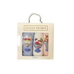 Набор кухонных полотенец Zugo Home Десерт V2 30*50 3 шт (ts-02556)