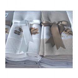 Набор кухонных полотенец Tac вафельный Asorti kahve 45*70 12 шт (TAC18091365)