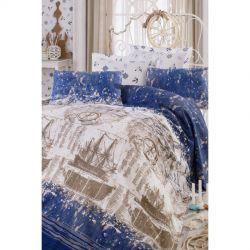 Постельное белье Eponj Home Pike - Pusula k.mavi голубой евро (2000008472500)