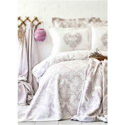 Постельное белье Karaca Home сатин - Quatre royal murdum фиолетовый евро (svt-2000022254502)