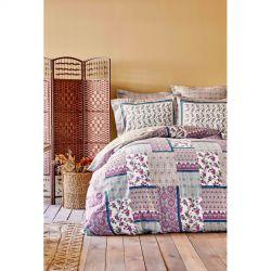 Постельное белье Karaca Home сатин - Maryam fusya 2020-2 фуксия евро (svt-2000022245760)