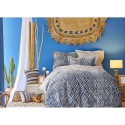 Постельное белье Karaca Home сатин - Nitara mavi 2020-1 голубой евро (svt-2000022231244)