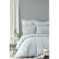 Постельное белье Karaca Home сатин - Infinity a.mavi голубой евро (svt-2000022225618)