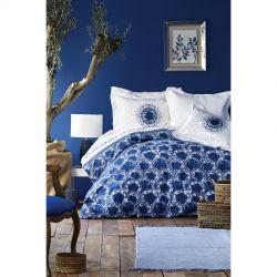 Постельное белье Karaca Home сатин - Infinity bej бежевый евро (svt-2000022225625)