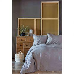 Постельное белье Karaca Home сатин - Infinity gri серый евро (2000022194488)