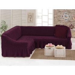 """Чехол для мебели (диван угловой +подушка) """"Love you""""  вишня (40) (m015908)"""