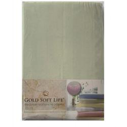 Простынь трикотажная на резинке Gold Soft Life Terry Fitted Sheet 90*200 ментоловый (ts-02017)
