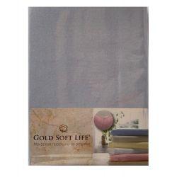 Простынь трикотажная на резинке Gold Soft Life Terry Fitted Sheet 180*200 голубой (ts-02028)