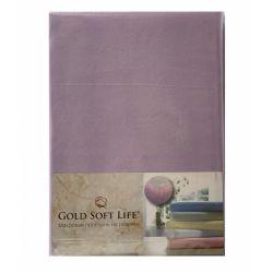 Простынь трикотажная на резинке Gold Soft Life Terry Fitted Sheet 160*200 сиреневый (ts-02041)
