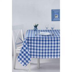 Скатерть Eponj Home - Kareli mavi голубой (svt-2000022282451, svt-2000022282529)