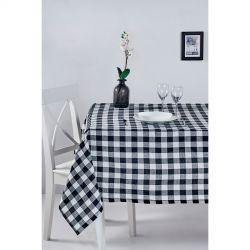 Скатерть Eponj Home - Kareli siyah черный 160*160 (svt-2000022282482)