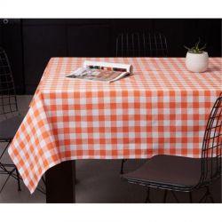 Скатерть Eponj Home - Kareli turuncu оранжевый 160*160 (svt-2000022282499)