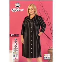 "Платье (туника) ""Cocoon"" 22-2688 (m017049, m017050, m017051, m017052)"