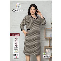 "Платье (туника) ""Cocoon"" 22-2692 (m017053, m017054, m017055, m017056)"