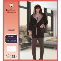 """Тройка мужская: брюки+кофта+халат """"Cocoon"""" 97-5043 (m016919, m016920, m016921, m016922, m016923)"""