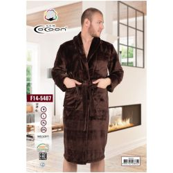 "Халат мужской ""Cocoon"" welsoft 14-5407 brown (m017013, m017014, m017015, m017016)"