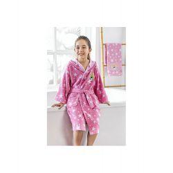 Набор халат с полотенцем Ozdilek Barbie розовый (8697353474873, 8697353474880, 8697353474897)