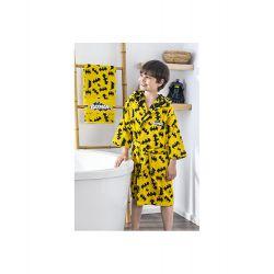 Набор халат с полотенцем Ozdilek Batman желтый (8697353478208, 8697353478178, 8697353478185)