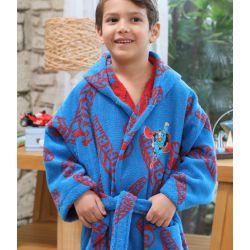 Набор халат с полотенцем Ozdilek SuperMan синий (8697353488580, 8697353488603)